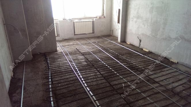 Укладка нагревательного кабеля в детской комнате